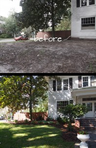 Front yard plantings