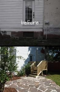 Backyard Staircase and Patio